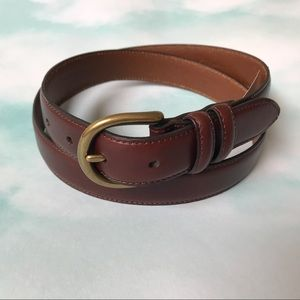 Jos A Banks Brown Leather Belt
